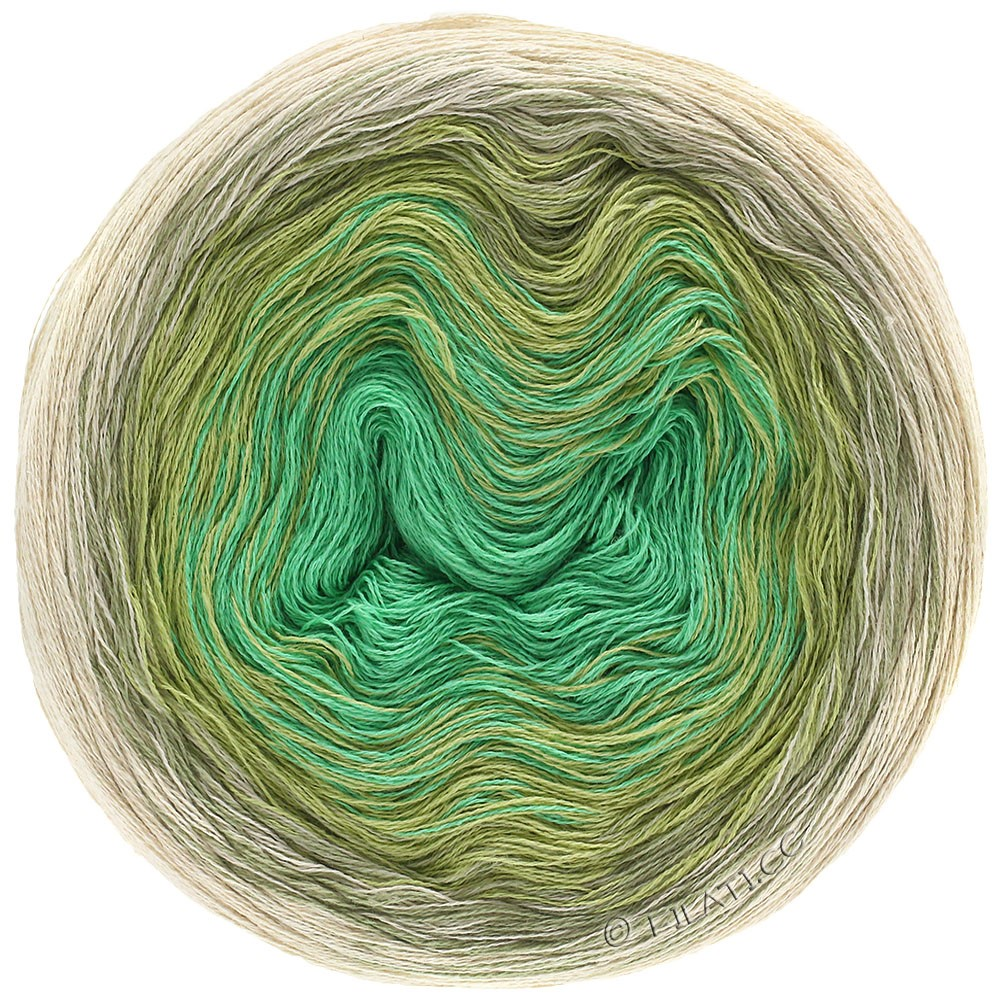 Lana Grossa SHADES OF COTTON LINEN | 706-natura/beige/verde canna/giada