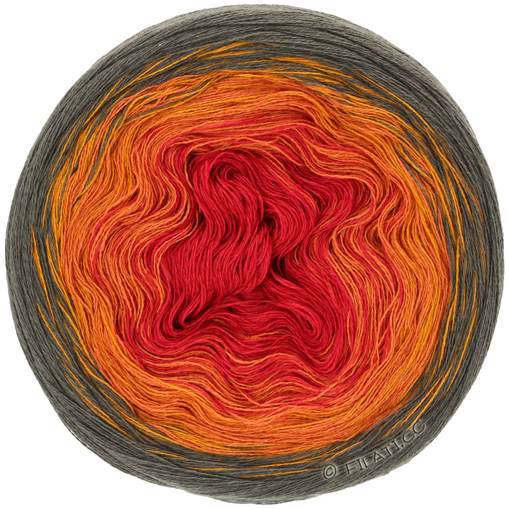 Lana Grossa SHADES OF COTTON LINEN | 707-moca/oro/arancio/rosso