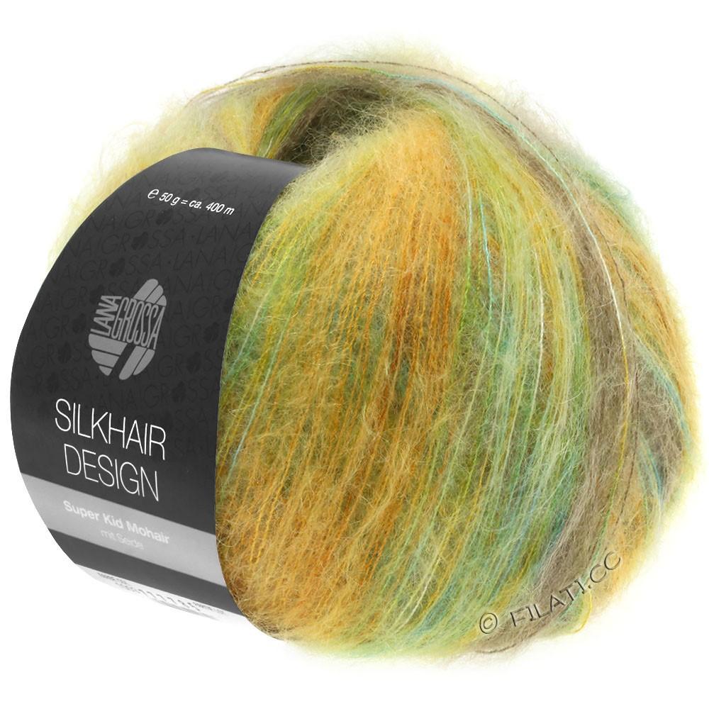 Lana Grossa SILKHAIR Design | 1002-turchese  /beige/oro/oliva/verde giallo