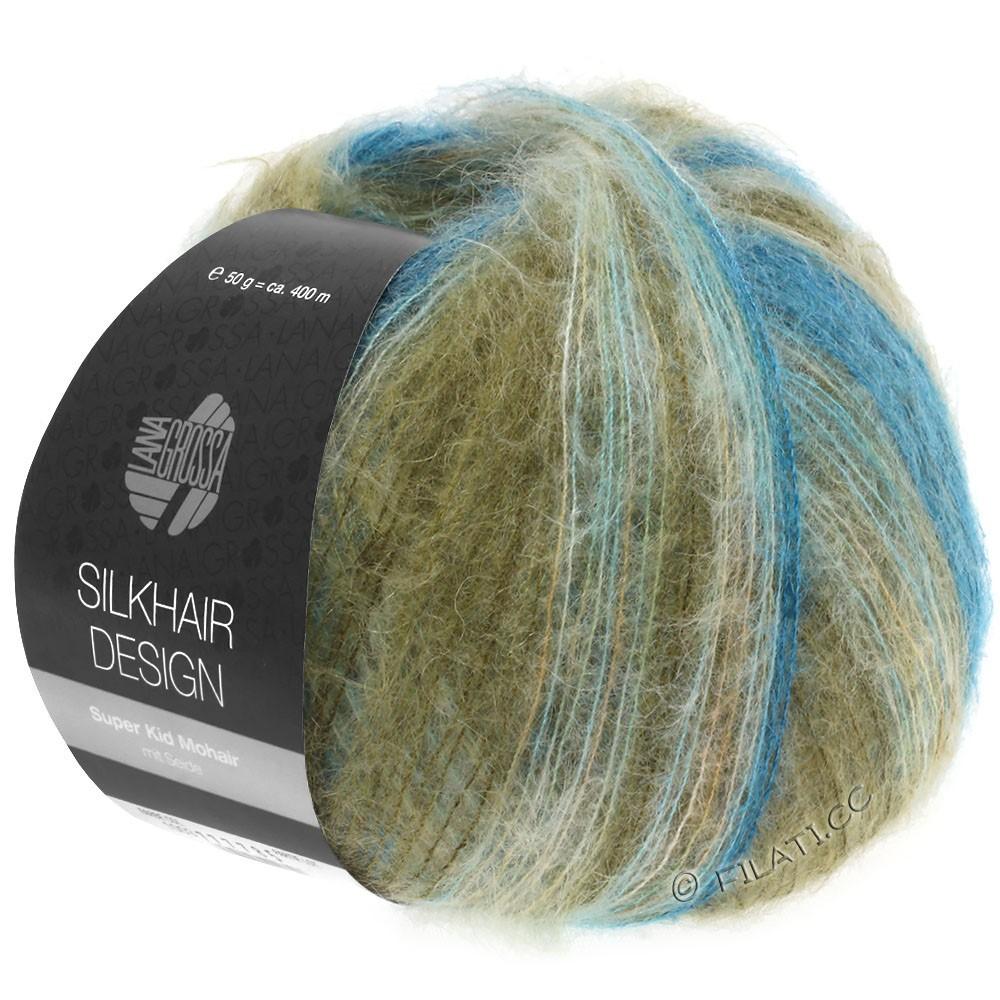 Lana Grossa SILKHAIR Design | 1006-ottanio/turchese blu/cachi/natura/cammello