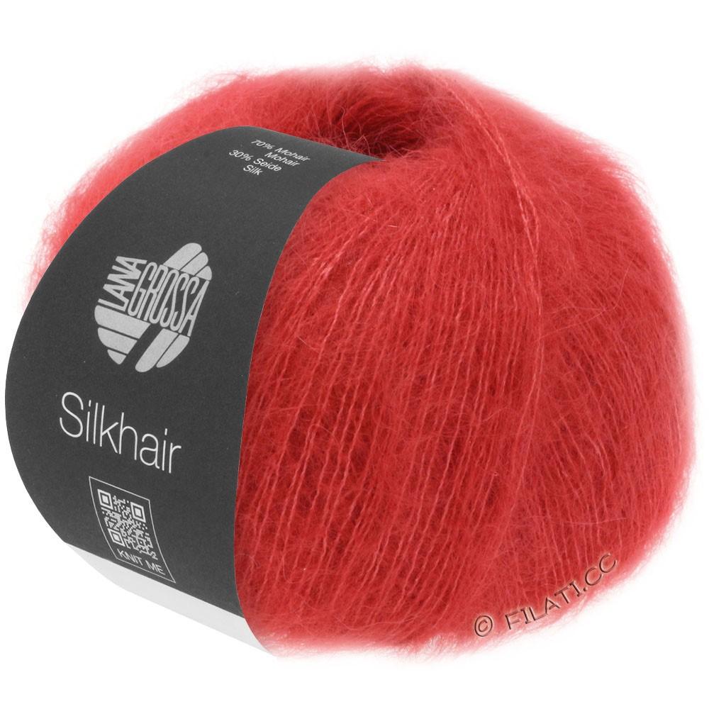 Lana Grossa SILKHAIR  Uni/Melange | 008-rosso ciliegia