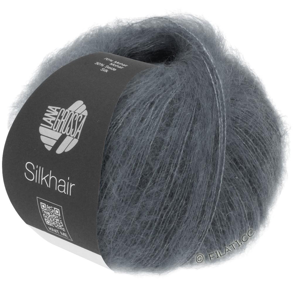 Lana Grossa SILKHAIR  Uni/Melange | 012-grigio scuro