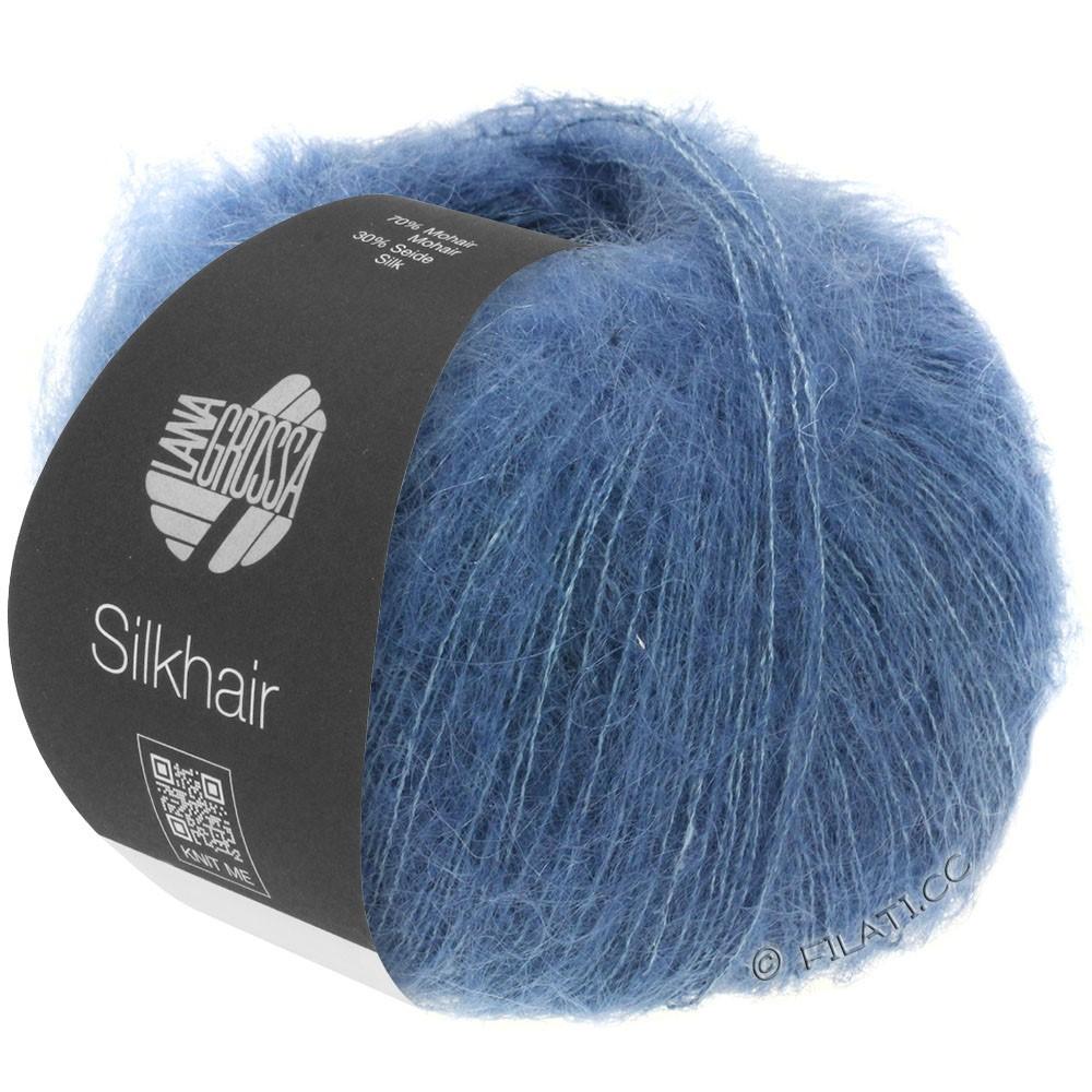Lana Grossa SILKHAIR  Uni/Melange | 079-blu scuro