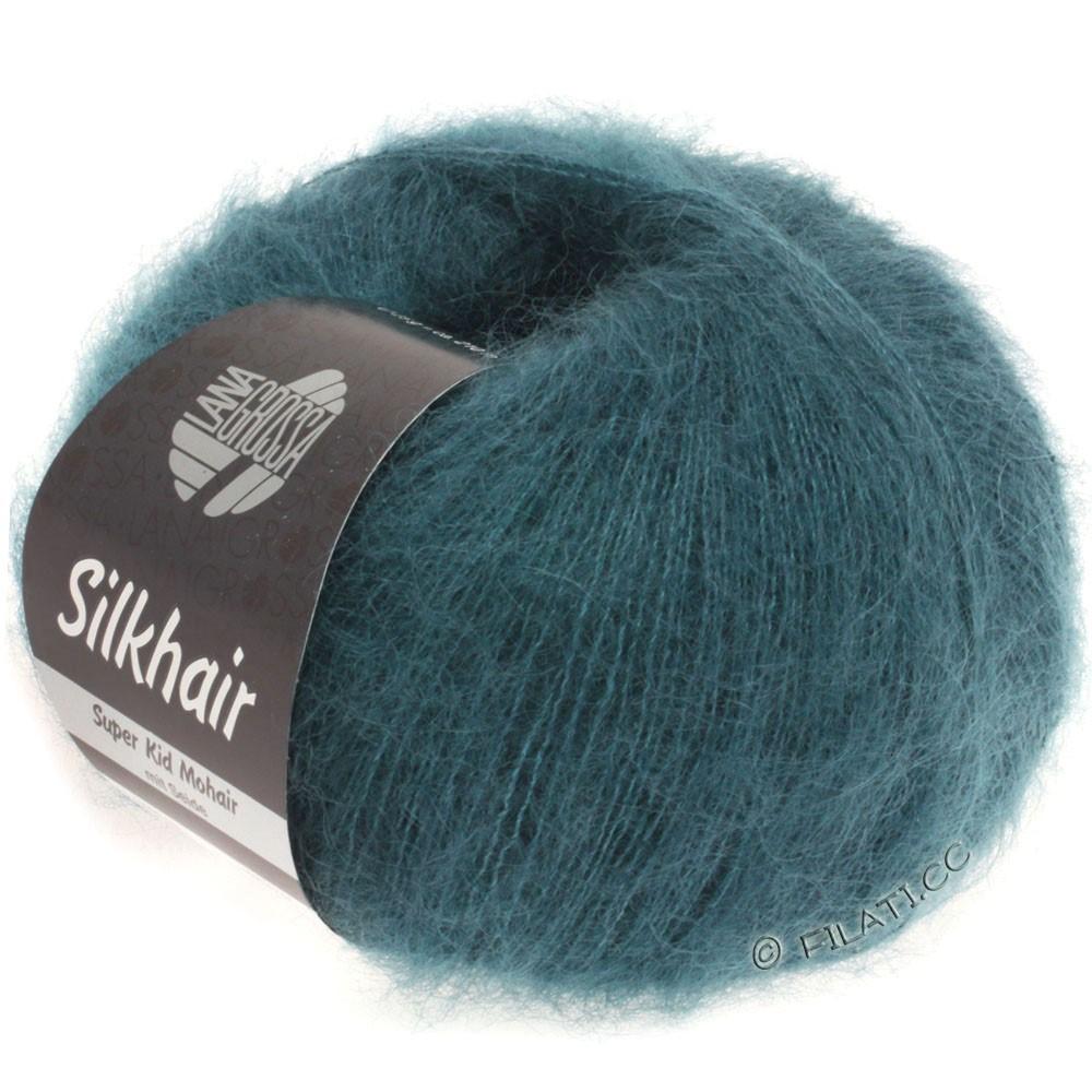 Lana Grossa SILKHAIR  Uni/Melange | 083-blu verde scuro