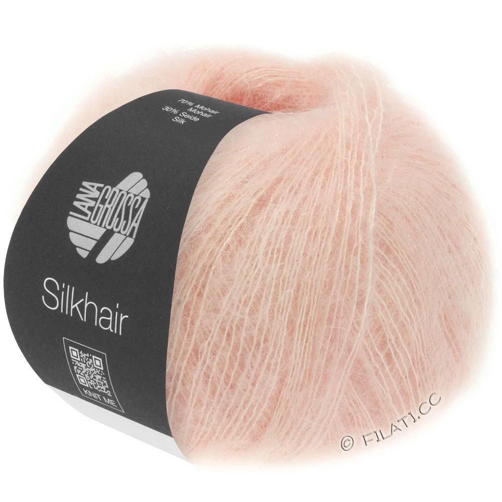 Lana Grossa SILKHAIR  Uni/Melange | 086-rosa polvere