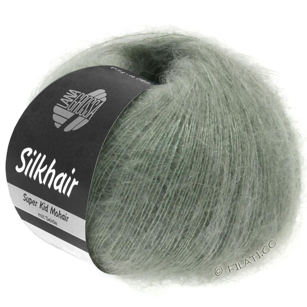Lana Grossa SILKHAIR  Uni/Melange | 105-verde grigio