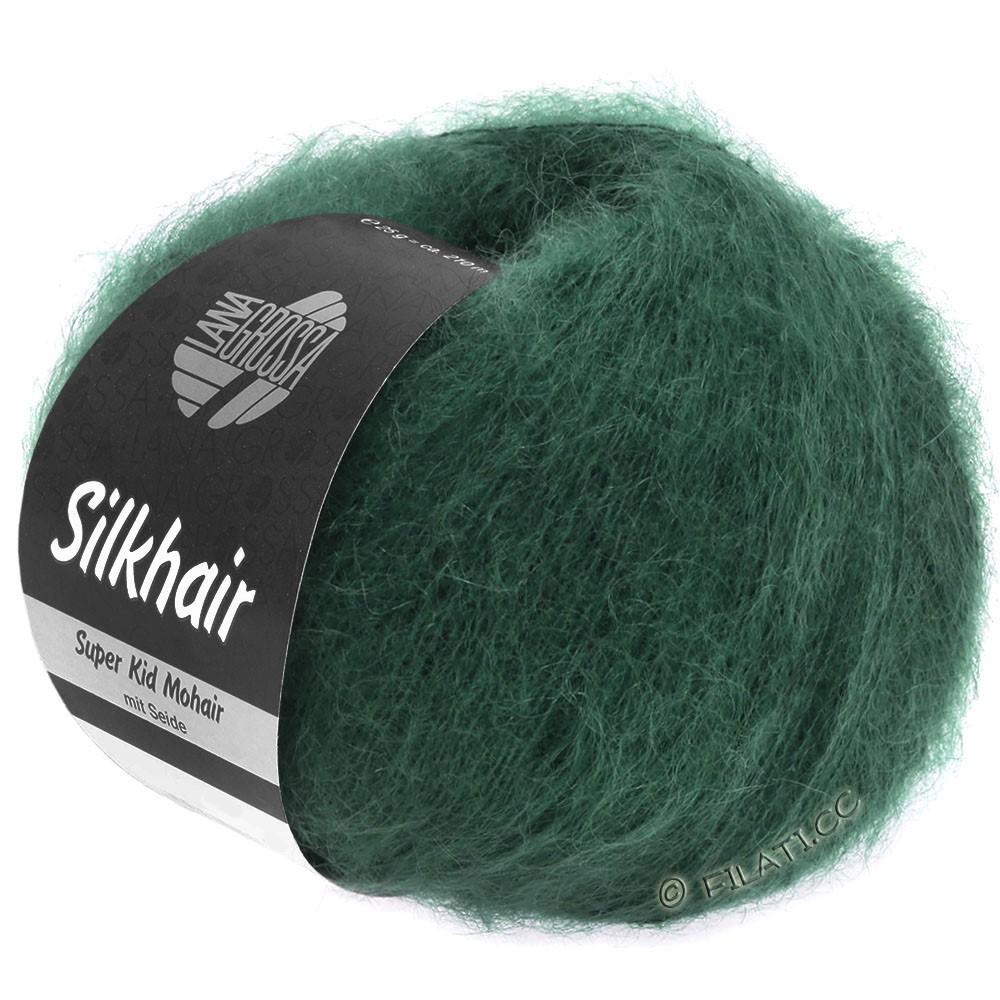 Lana Grossa SILKHAIR  Uni/Melange | 110-verde scuro