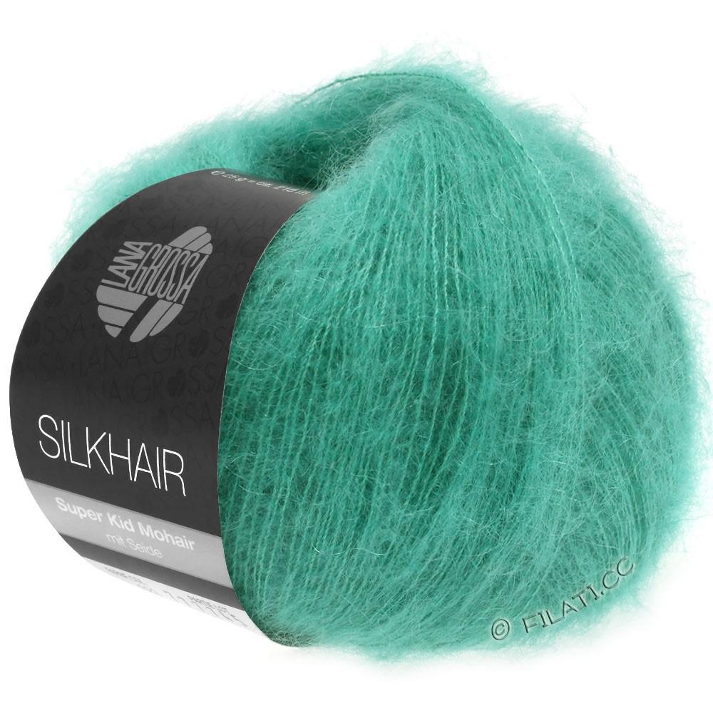 Lana Grossa SILKHAIR  Uni/Melange | 120-verde turchese