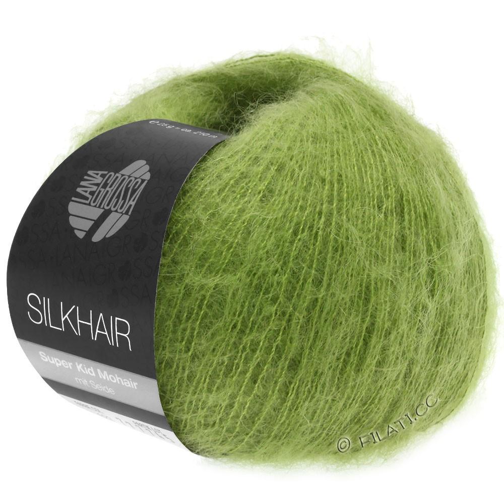 Lana Grossa SILKHAIR  Uni/Melange | 122-foglia verde