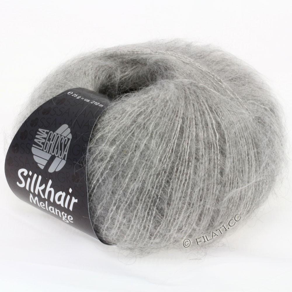Lana Grossa SILKHAIR  Uni/Melange | 702-grigio chiaro/beige chiaro puntinato