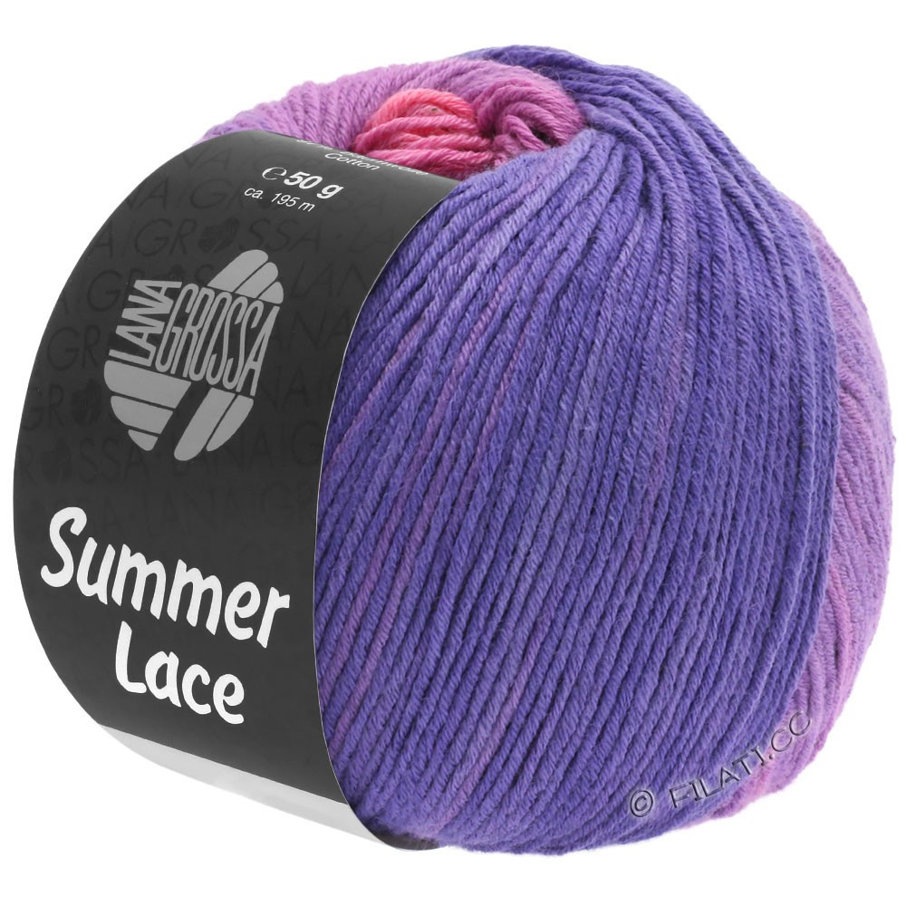 Lana Grossa SUMMER LACE DEGRADÉ | 102-rosa/lilla/porpora/blu violetto