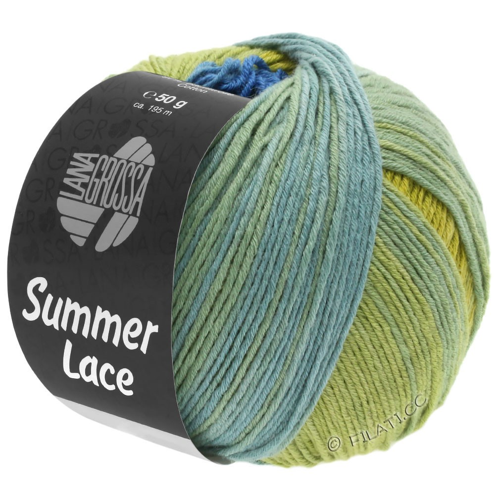 Lana Grossa SUMMER LACE DEGRADÉ | 104-giallo/blu/verde giada