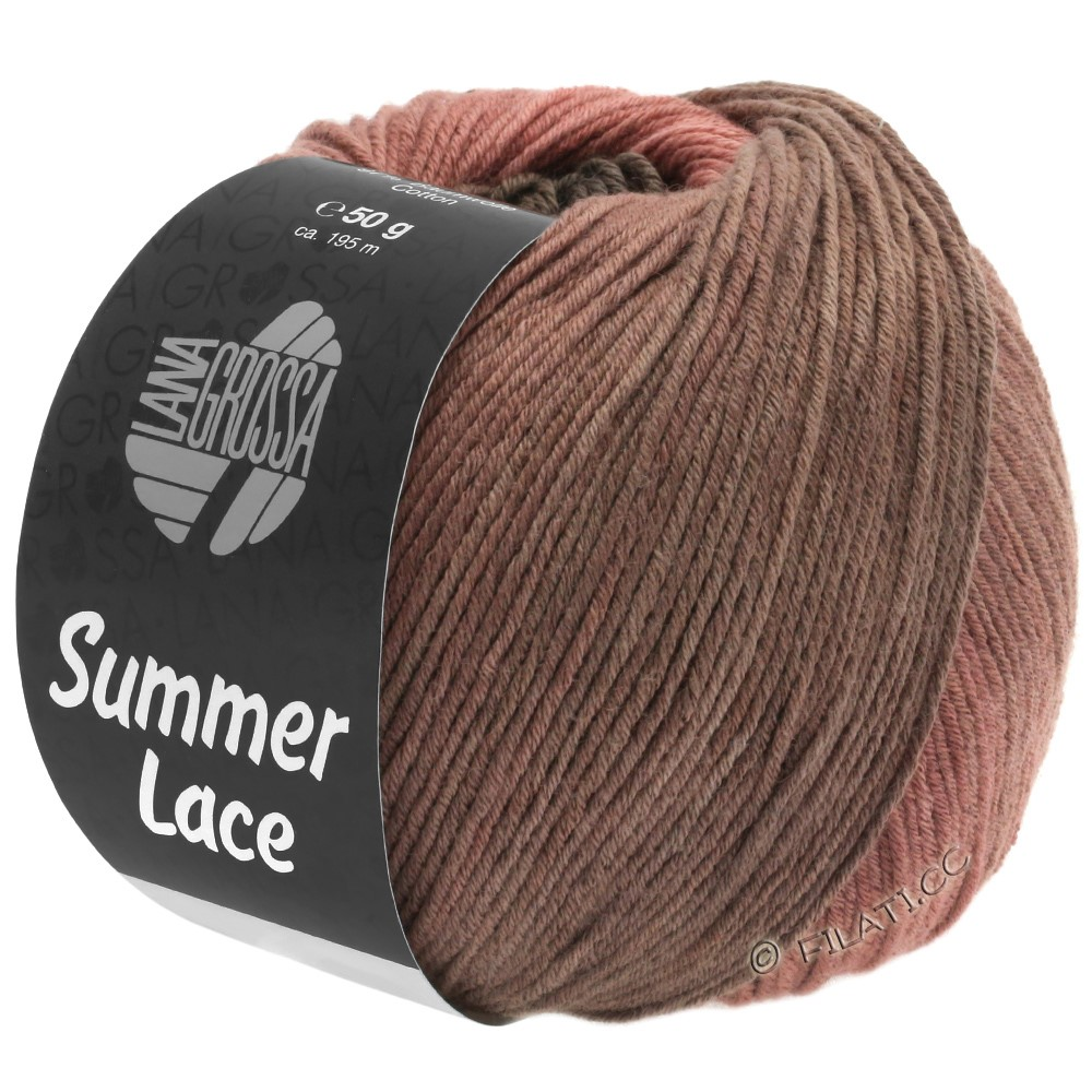Lana Grossa SUMMER LACE DEGRADÉ | 106-terracotta/marrone cioccolato/marrone beige