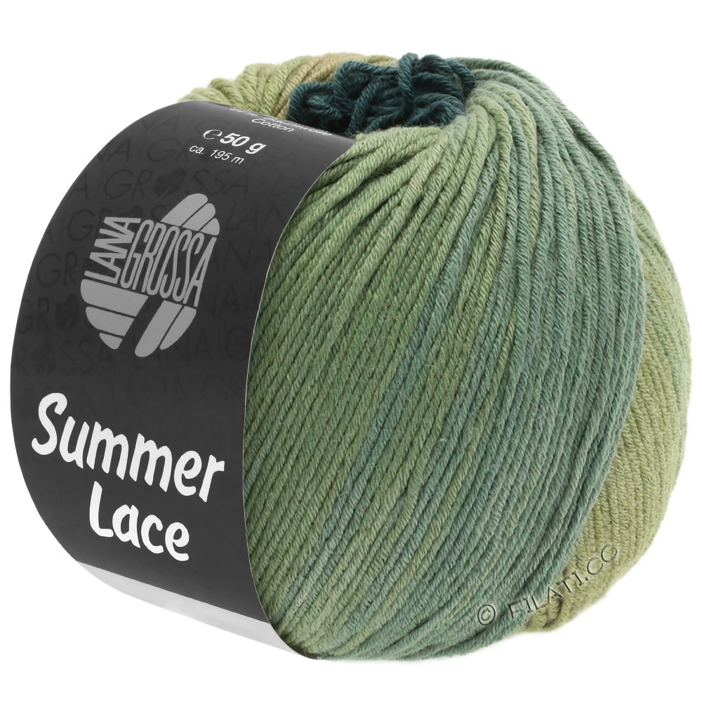 Lana Grossa SUMMER LACE DEGRADÉ | 107-canna/cachi/verde grigio