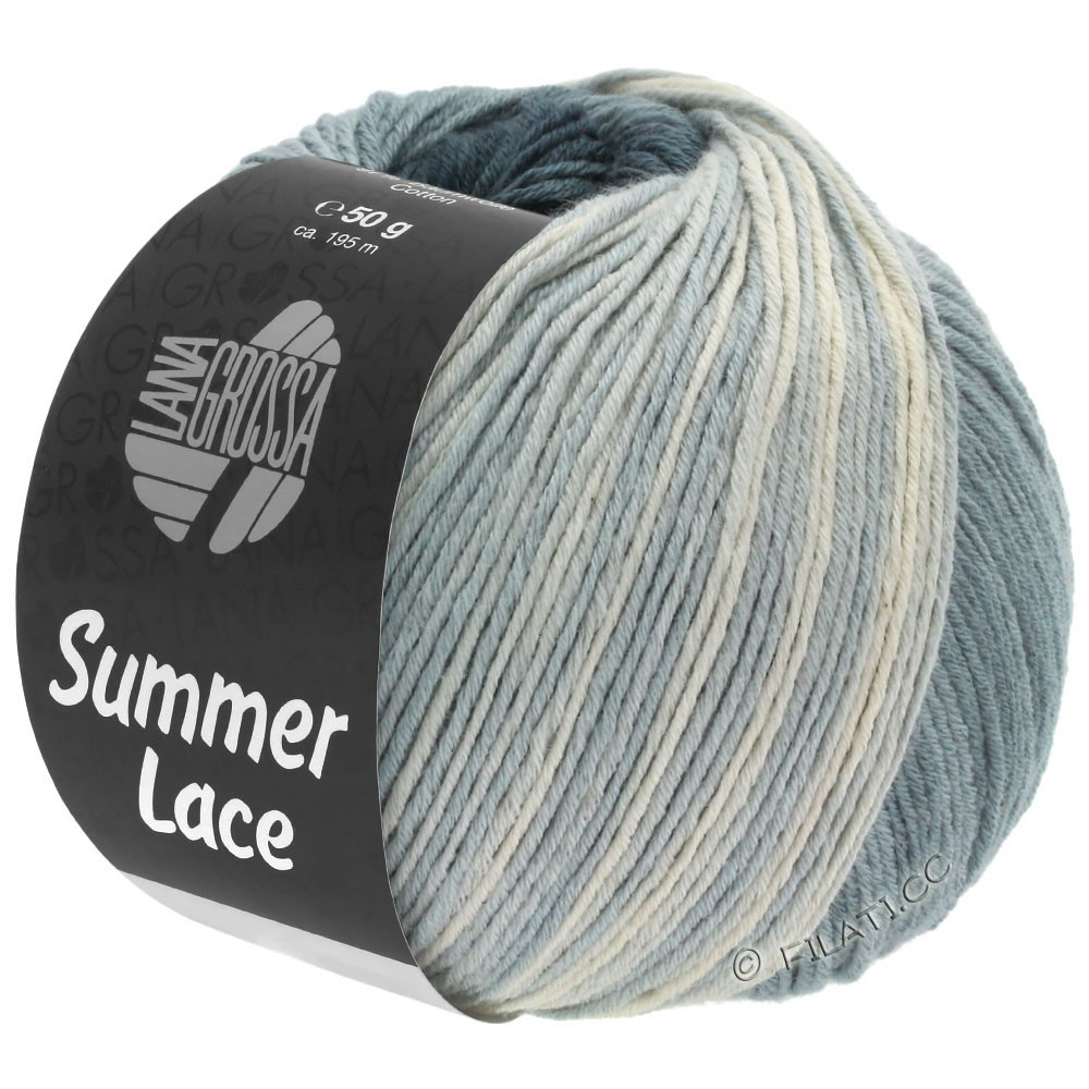 Lana Grossa SUMMER LACE DEGRADÉ | 110-natura/grigio medio/grigio scuro/antracite