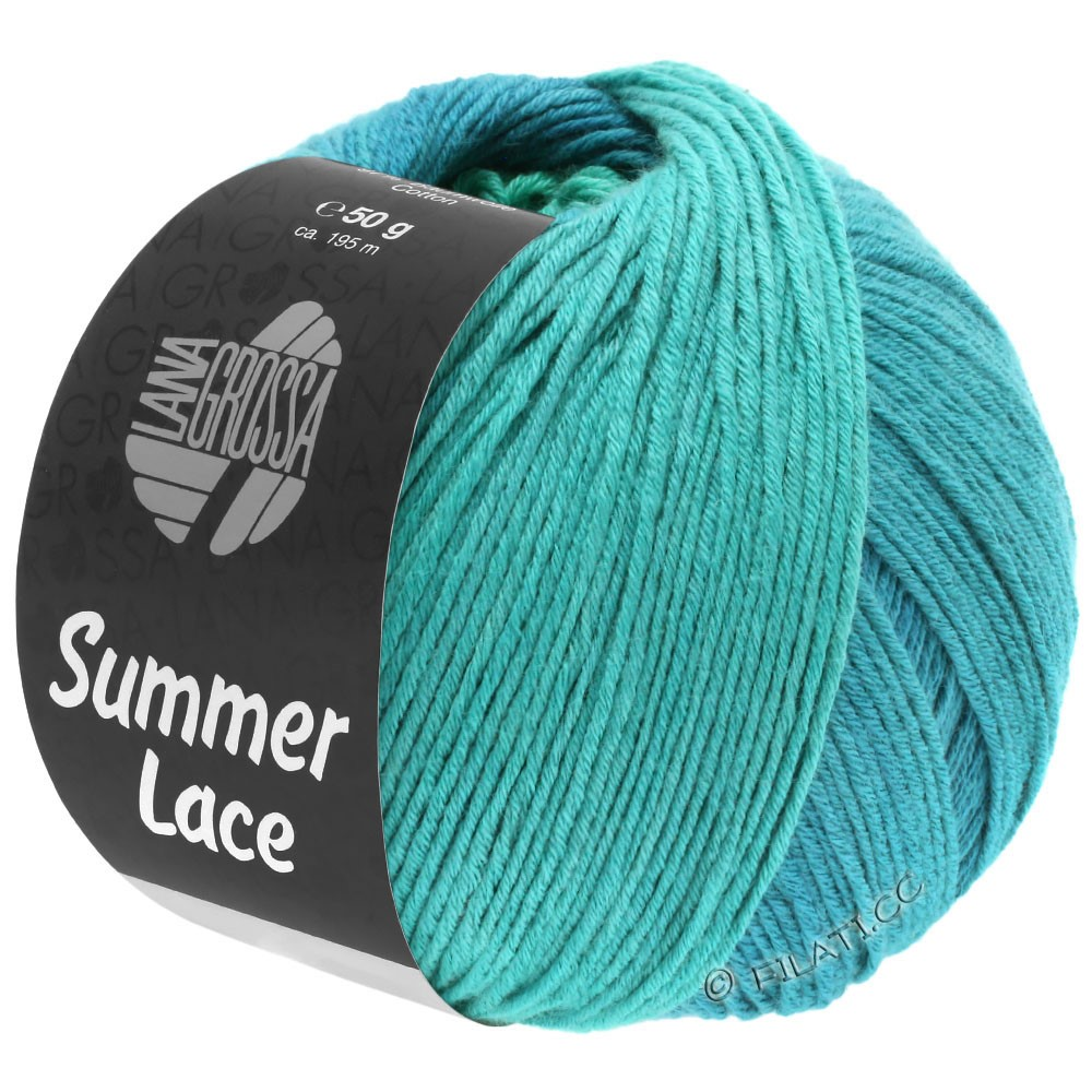 Lana Grossa SUMMER LACE DEGRADÉ | 113-turchese  /blu ottanio/verde ottanio