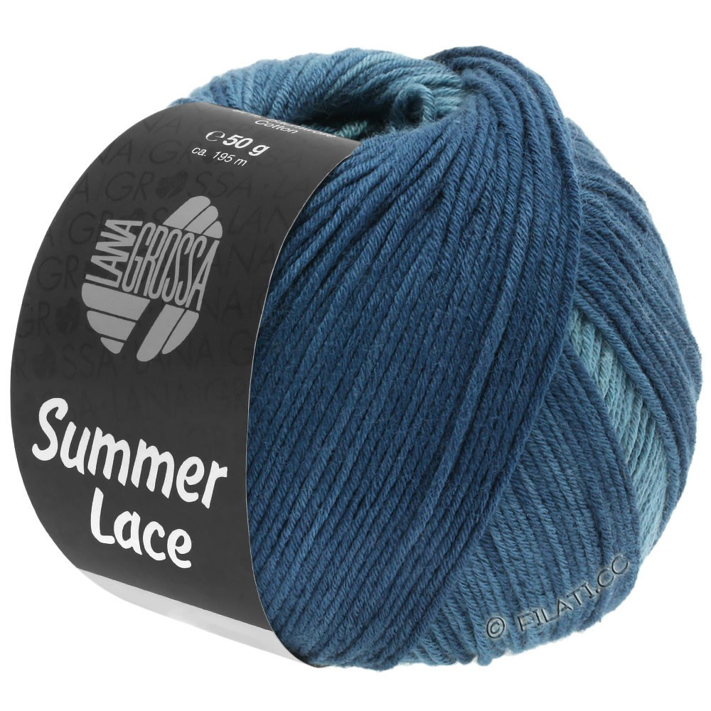 Lana Grossa SUMMER LACE DEGRADÉ | 114-verde ottanio/grigio blu/ottanio scuro