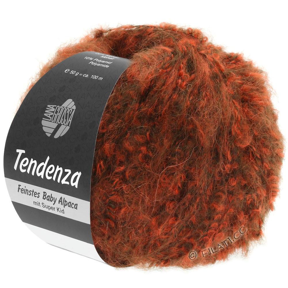 Lana Grossa TENDENZA | 006-marrone scuro/arancio