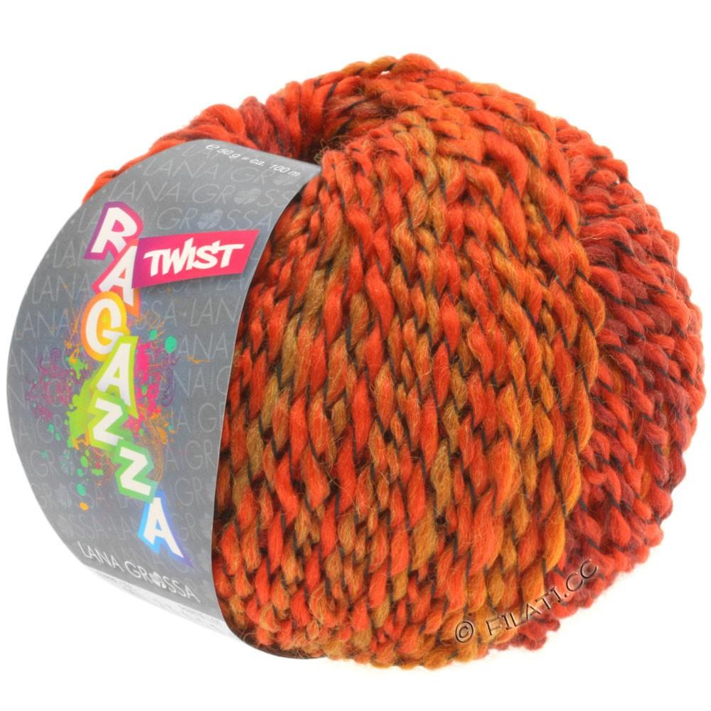 Lana Grossa TWIST (Ragazza)   06-rosso/borgogna/arancio