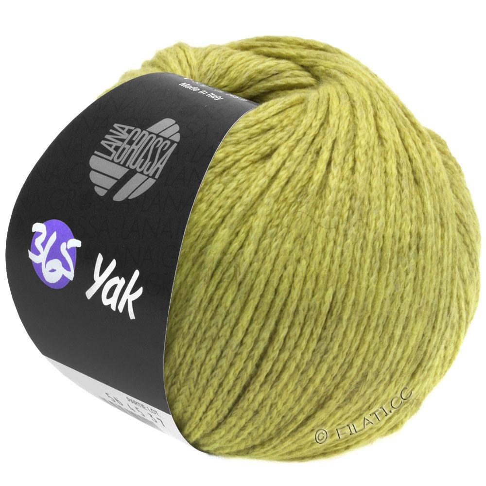 Lana Grossa 365 YAK | 05-verde giallo/grigio chiaro