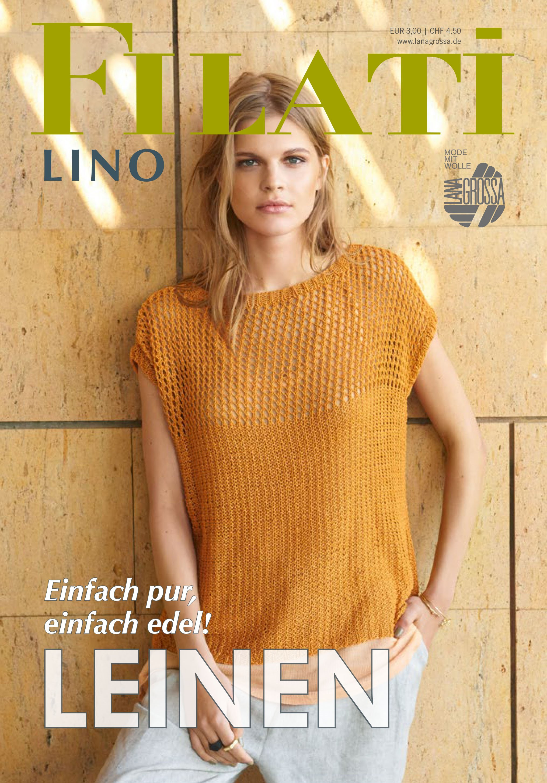 Lana Grossa FILATI Lino No. 1 - Magazine (DE)  + Explications (FR)